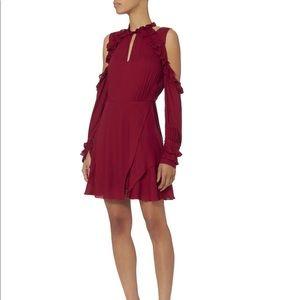 NWT! IRO Hanie Ruffle Cold Shoulder Dress